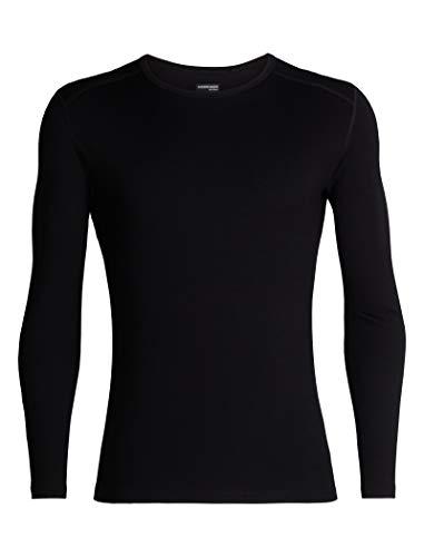 Icebreaker Merino Men's 260 Tech Long Sleeve Crew Neck Shirt, Black, Medium
