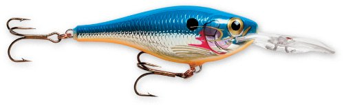 Rapala Shad Rap Rattlin' Suspending 05 Fishing lure, 2-Inch, Silver Blue