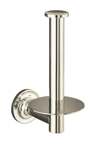 KOHLER K-14444-SN Purist Toilet Tissue Holder, Vibrant Polished Nickel (Polished Nickel)