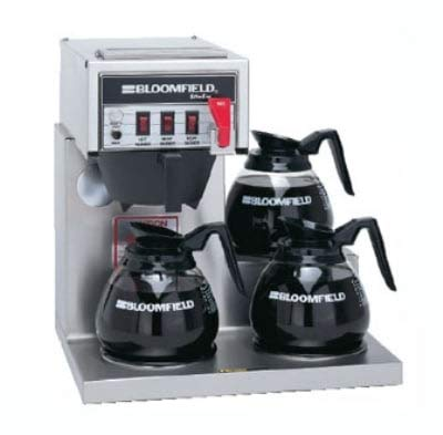 Bloomfield 8572D3F Koffee King Coffee Brewer w/Faucet, 3-Lower Warmers, Step Right
