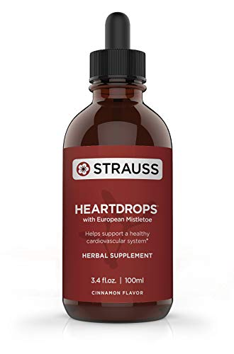 Strauss Heartdrops–Aged Garlic Extract, Herbal Supplement for Heart Health-Heartdrops| Maintain a Healthy Cardiovascular System–High Quality, Natural Ingredients (3.4 fl oz Cinnamon Flavor)