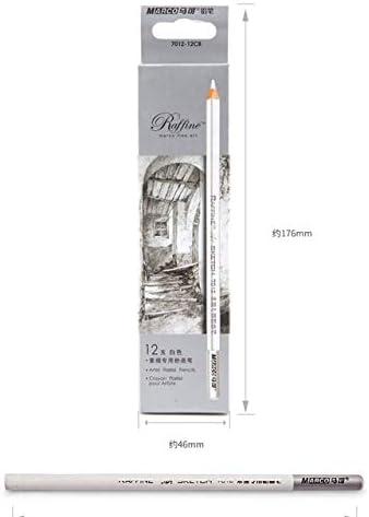 Boceto resaltado bolígrafo lápiz Blanco Núcleo Suave Lápiz de carbón de Color para Dibujar Lápiz de resaltado Lápiz de Colores Licuadora Pastel, 12 Piezas