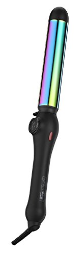 INFINITIPRO BY CONAIR Rainbow Titanium Curling Wand; 1 1/4-inch Curling Wand; Rainbow finish (Best Large Curling Wand)