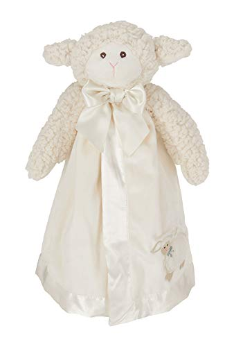 (Bearington Baby Lamby Snuggler, White Lamb Plush Stuffed Animal Security Blanket, Lovey 15
