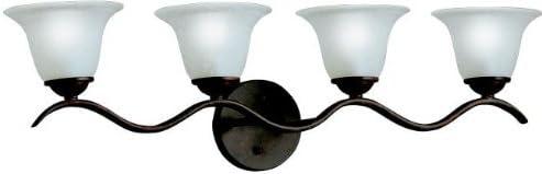 B000JTZPJS Kichler 6324TZ, Dover Reversible Glass Wall Vanity Lighting, 4 Light, Tannery Bronze 31hzwjp632L.