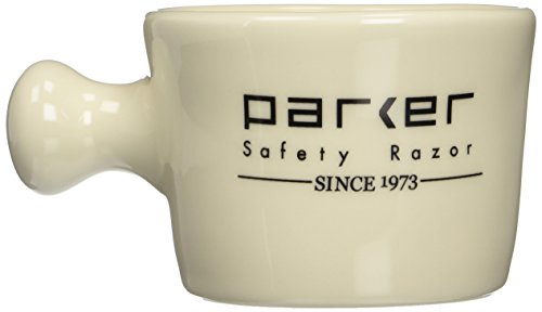 Parker Safety Razor Deluxe Ivory Stoneware Apothecary Style Shave Mug - Handmade in the USA by Parker Safety Razor