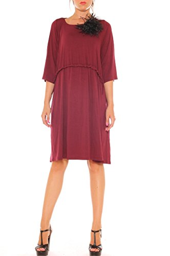 Damen Les Kleid roses Bordeaux codes wgxxqnpOT