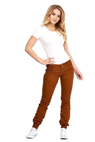 b092ade02ec LOTD - Pantalones vaqueros con dobladillo en puño para mujer