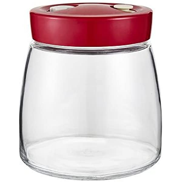 Tarro de fermentación con válvula de liberación de aire, 1 litro, de Lakeland: Amazon.es: Hogar