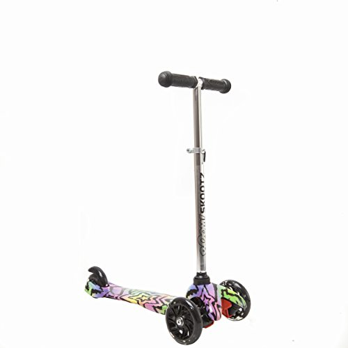 Deluxe 3 Wheel MINI Scooter – Perfect for 2-5 Year Olds. New Design with Adjustable Handlebars and Light Up Wheels.