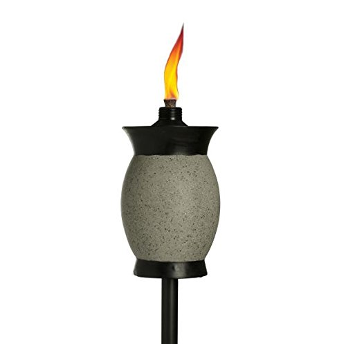 - TIKI Brand 64-inch Resin Jar Torch 4-in-1, Graphite Gray