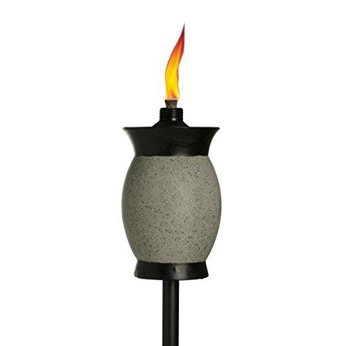 Tiki Brand 64-inch Resin Jar Torch 4-in-1 Graphite Gray Color (Resin Jar)