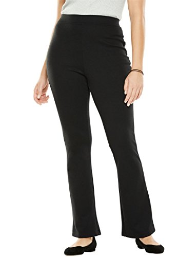 Woman Within Plus Size Tall Bootcut Ponte Stretch Knit Pant