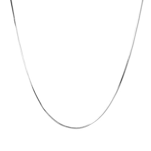 Pori Jewelers 925 Sterling Silver 1.5MM Magic 8 Sided Italian Snake Chain - for Women - Made in Italy (Silver, 18)