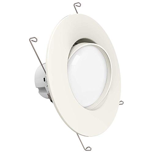 Sunco Lighting 5 Inch/6 Inch Gimbal LED Downlight, 12W=60W, 3000K Warm White, 800 LM, Dimmable, Adjustable Recessed Ceiling Fixture, Simple Retrofit Installation