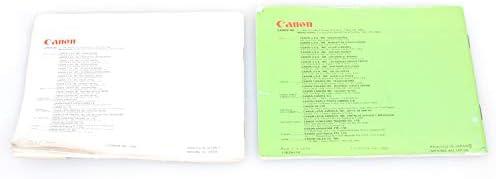Canon AE-1 Program Manual /& Lens Book