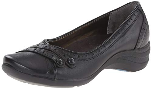 (Hush Puppies Women's Burlesque, Black Leather, 6.5 WW (EE))