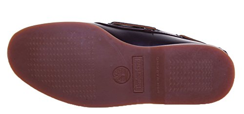 Timberland FTM 76015 - Náuticos con cordones y borde acolchado para hombre Dark Brown LP2