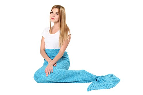 [Mermaid Tail Blanket Knit Crochet and Scale Mermaid Blanket for Adult,Sleeping Blanket (75''x31'',] (S Costume Ideas For Women)