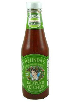 Melinda's Jalapeno Ketchup Tangy & Spicy 13oz (12 Bottles) CASE (Melindas Jalapeno)