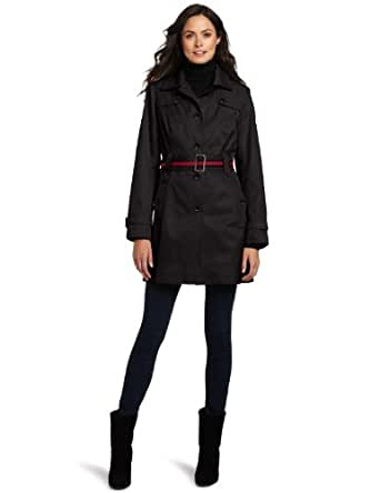 Tommy Hilfiger Women's Marlo Trench Coat, Black, Small