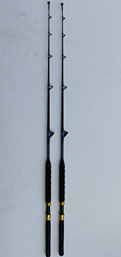 (XCALIBER MARINE PAIR OF TOURNAMENT SERIES 6' 20-40 lb SALTWATER TROLLING RODS)