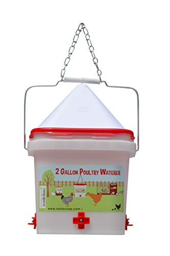 2 Gallon Chicken Waterer - Horizontal Nipple Setup (4 Nipple)