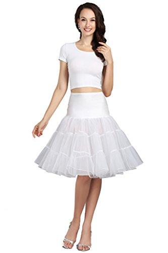 Wowbridal Women's Women Vintage Short Petticoat Net Underskirt 26