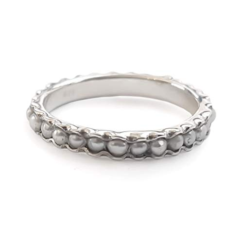 Pearls silver infinity ring (Ring Pearl Eternity Band)