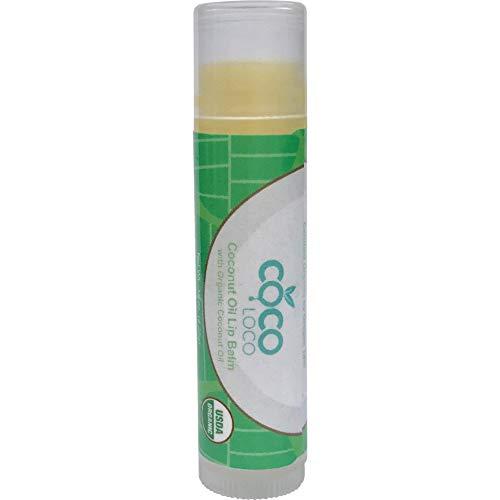 COCO LOCO - Coconut Oil Lip Balm - Certified Organic Hydrating Coconut Oil, Vitamin E and Calendula Sheer Lip Balm
