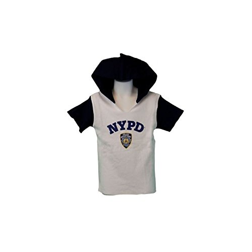 bc140c7d1 Amazon.com: NYPD Kids Hooded T-Shirt Youth Boys Tee Blue White (X ...