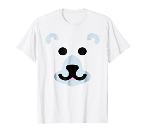 Polar Bear Face Mask Easy Halloween Costume For Kids Adults -