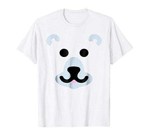 Polar Bear Face Mask Easy Halloween Costume For Kids Adults ()