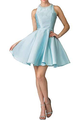 Blau mia Tanzenkleider Partykleider Abendkleider Satin Braut Abschlussballkleider Cocktailkleider Hell Mini Kurz Festlichkleider La pqw4xH7q