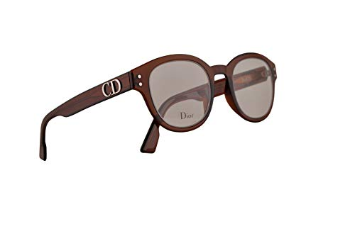 Christian Dior DiorCD2 Eyeglasses 46-22-145 Transparent Brown Cora w/Demo Clear Lens 2LF CD2 - Dior Frame Eyeglasses Christian Cd