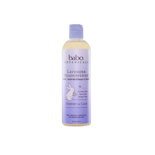 Babo Botanicals 3 in 1 Bubble Bath and Shampoo and Wash Lavender Meadowsweet - 13.5 fl oz UNFI - Select Nutrition 1092014