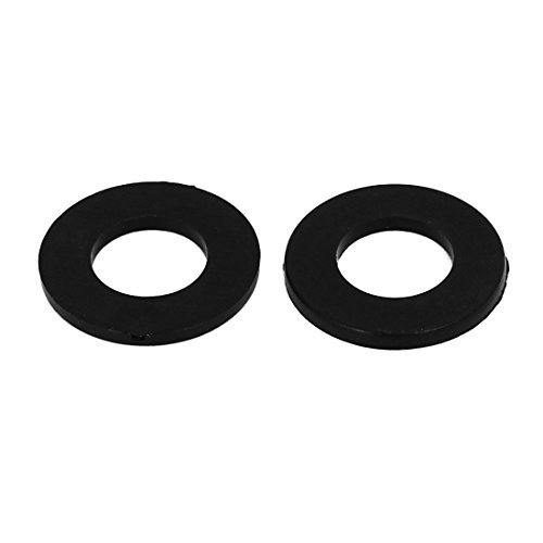 M8 x 16 mm x 1.4 mm Nylon Flat Insulating washers Spacers Gaskets Black 100PCS
