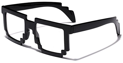 8 Bit Square Pixel Nerd Gamer Glasses Retro Novelty - Bit Prescription Glasses 8