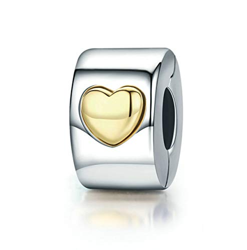 Eternalll Jewellery Spacer Bead Authentic 925 Sterling Silver Charms for Bracelet (C) ()