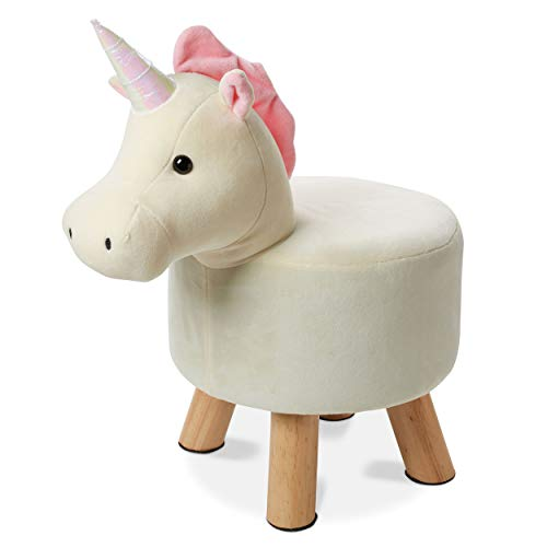 Tri-Coastal Design Cute Unicorn Step Stool for Kids Toddler Cloth Step Stool - Bathroom Sink/Toilet Step Stools for Toddlers and Young Children