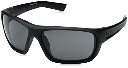 Under Armour UA Launch Round Sunglasses, UA Launch Satin Black / Black Frame / Gray Lens, 64 - Sunglasses Ua