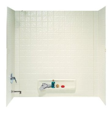 Swanstone TI-3-018 Veritek Three Panel Tub Wall Kit, Bisque Finish (Bath Tub Walls & Surrounds)
