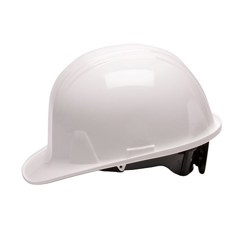 Pyramex Safety SL Series Cap Style Hard Hat, 4-Point Ratchet Suspension, White]()