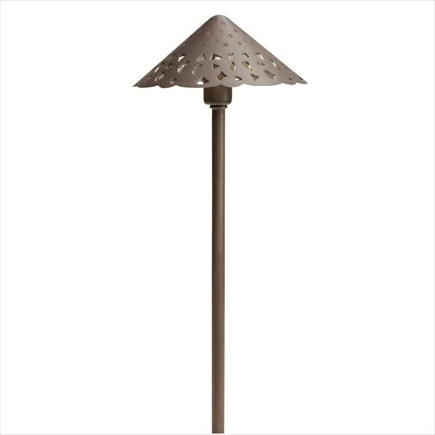 Kichler Landscape 15871BBR Landscape LED Cast Brass Hammered Roof in Bronzed Brass