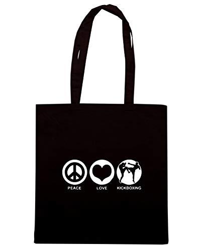 Borsa Shopper Nera TLOVE0123 PEACE LOVE KICKBOXING