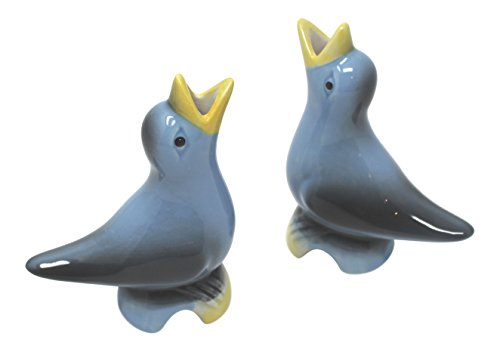 Rhyne And Son Pie Bird - Set of Two (Blue w/ Yellow)
