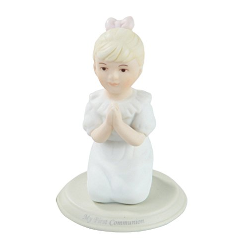 - Pacific Giftware First Communion Little Girl Praying on Knees Statue Fine Porcelain Figurine, 5.25