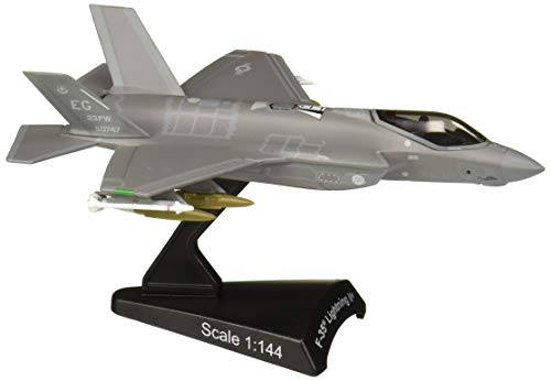 (Daron Postage Stamp PS5602 USAF F-35 Version A F-35 Lightning II USAF 1/144 Scale Diecast Model with Stand)