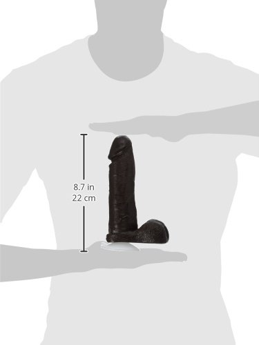 Doc Johnson The Realistic Cock with Removable Suction Cup - 8 Inch - F-Machine and Harness Compatible Dildo - Chocolate