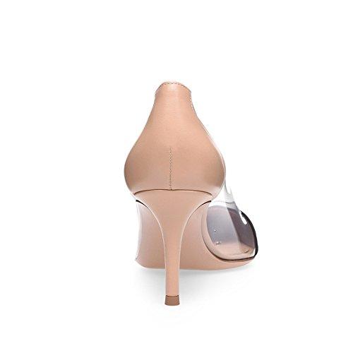 Apricot PVC Mode TLJ Talon Grande Mariage Sexy 37 Transgenre Plateforme Fête Soirée Coutures KJJDE 080 Taille De Haut Femme Club qzfUnU